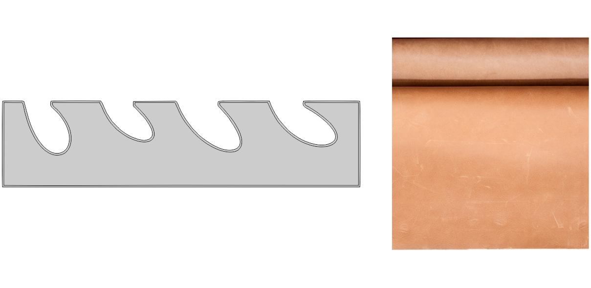 Anilinová kůže nemá žádnou nebo jen lehkou povrchovou úpravu.