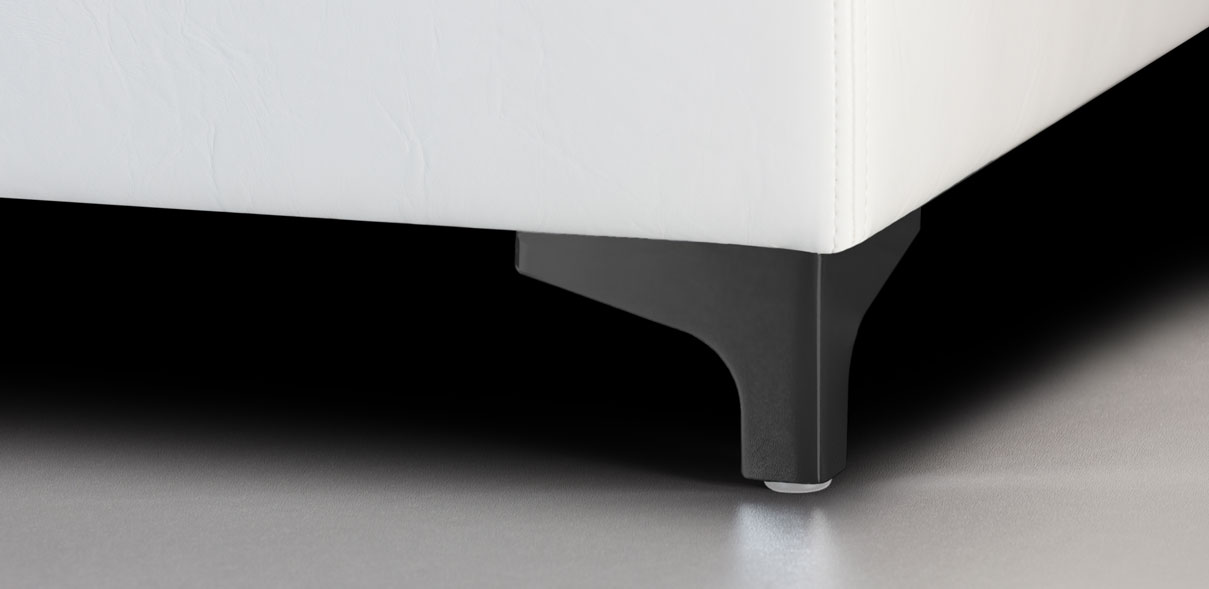V58 - kovové nohy s RAL úpravou černé; výška noh: 8 cm