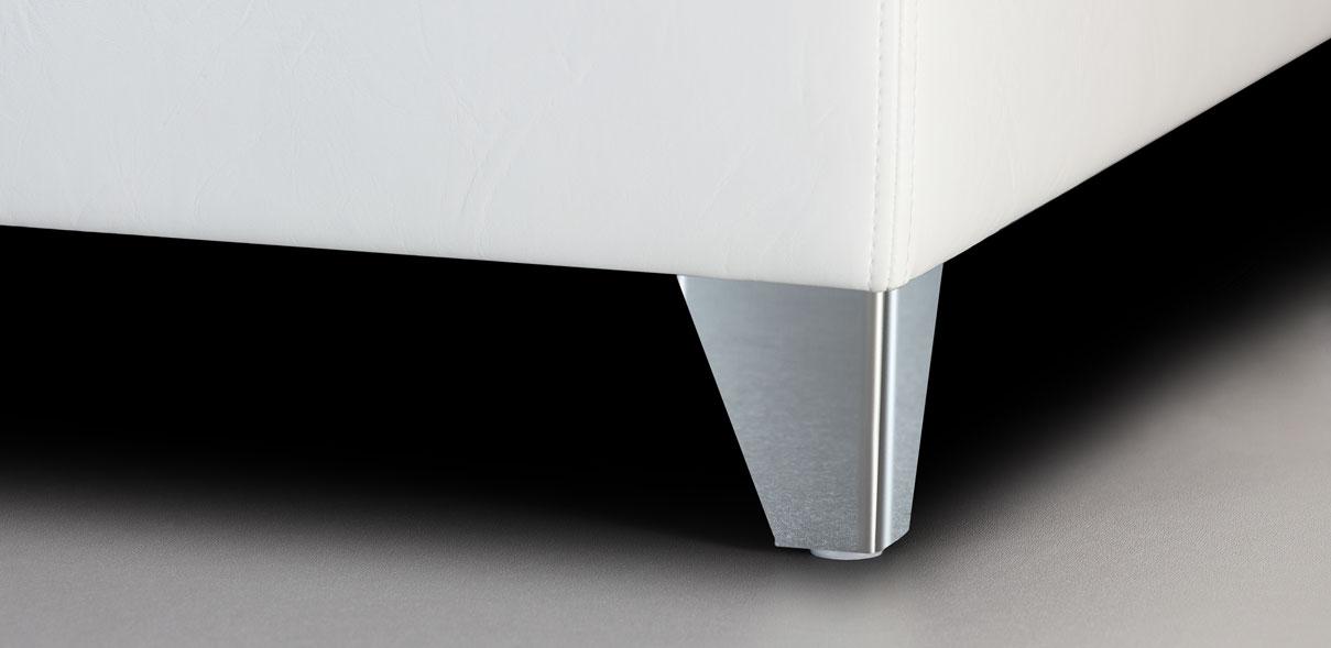 V59 - lesklé kovové nohy; výška noh: 8 cm