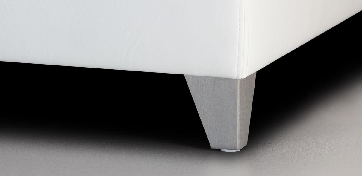 V60 - broušené kovové nohy; výška noh: 8 cm