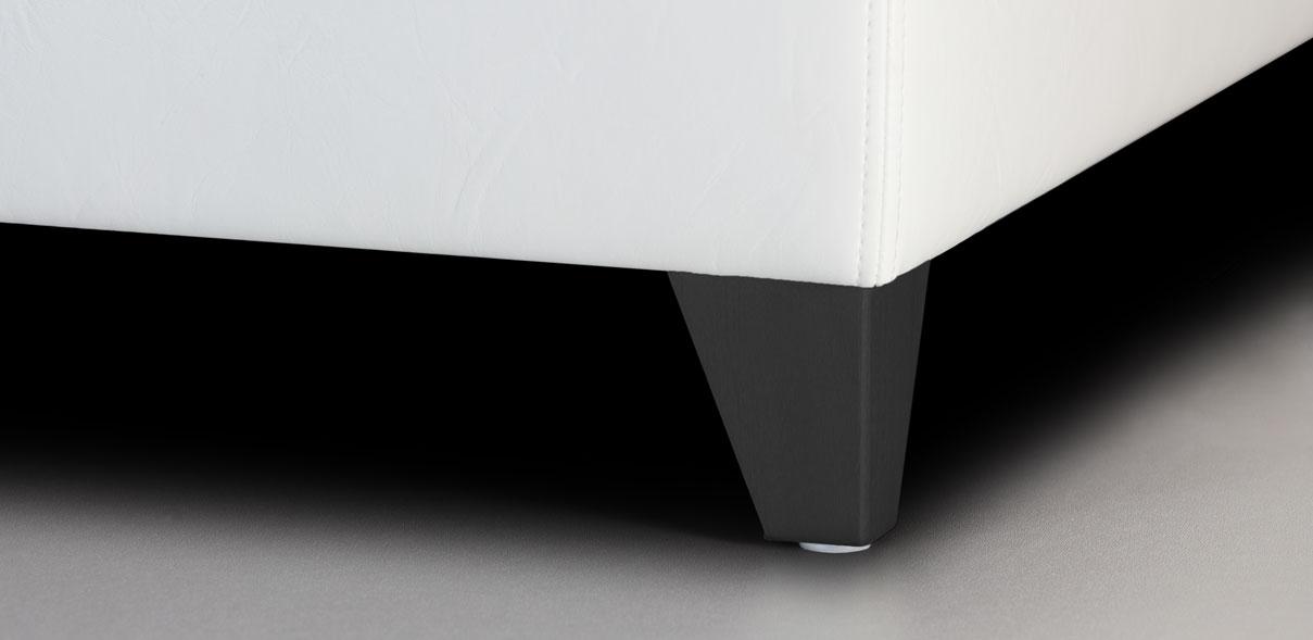 V61 - kovové nohy s RAL úpravou černé; výška noh: 8 cm