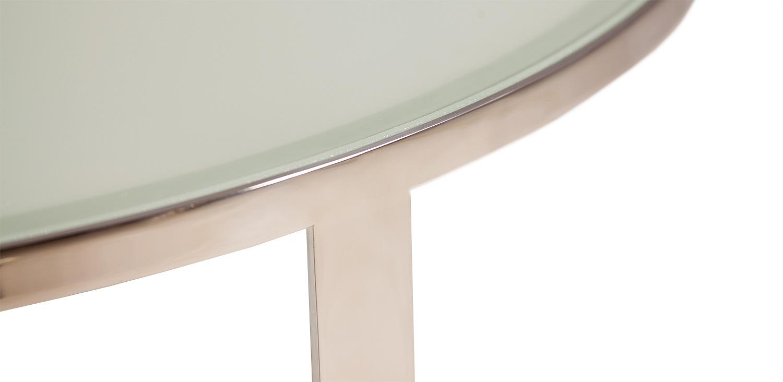 krásná lesklá nerezová podnož z ušlechtilé oceli v kombinaci s lakomatem (lakované sklo) s vysokou odolností