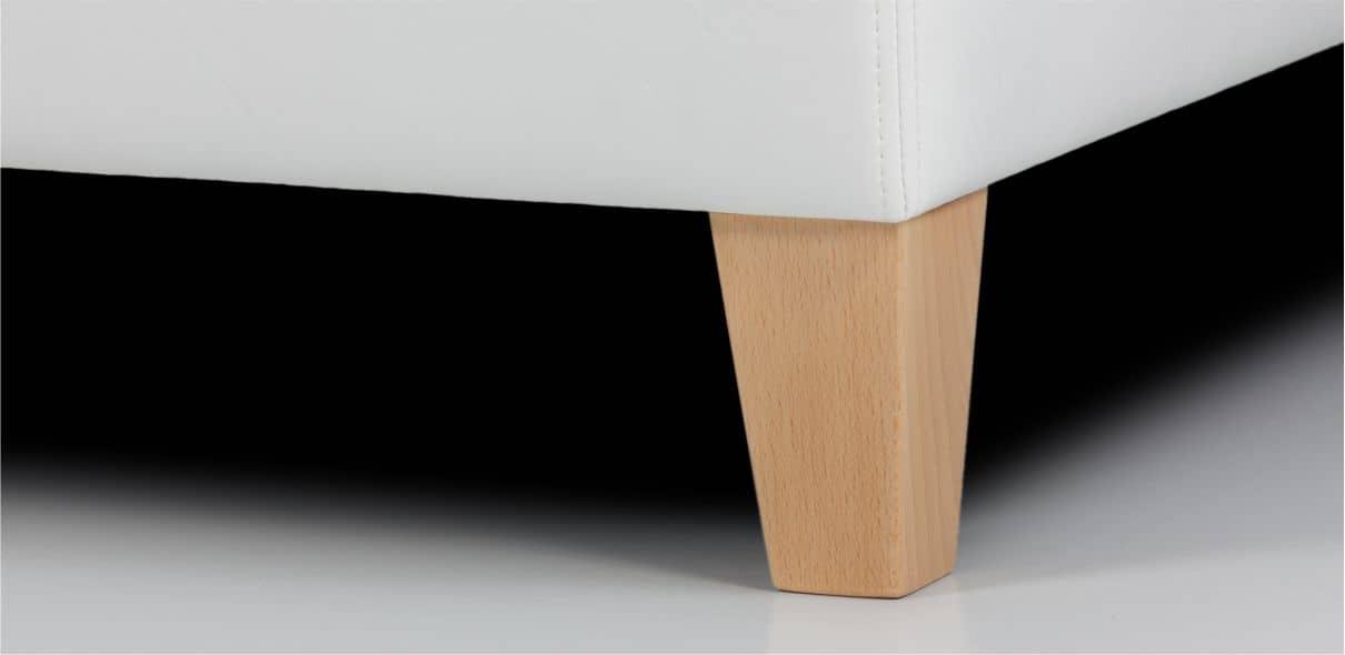 V16 - dřevěné bukové nohy s možností moření dle výběru; výška noh: 10 cm