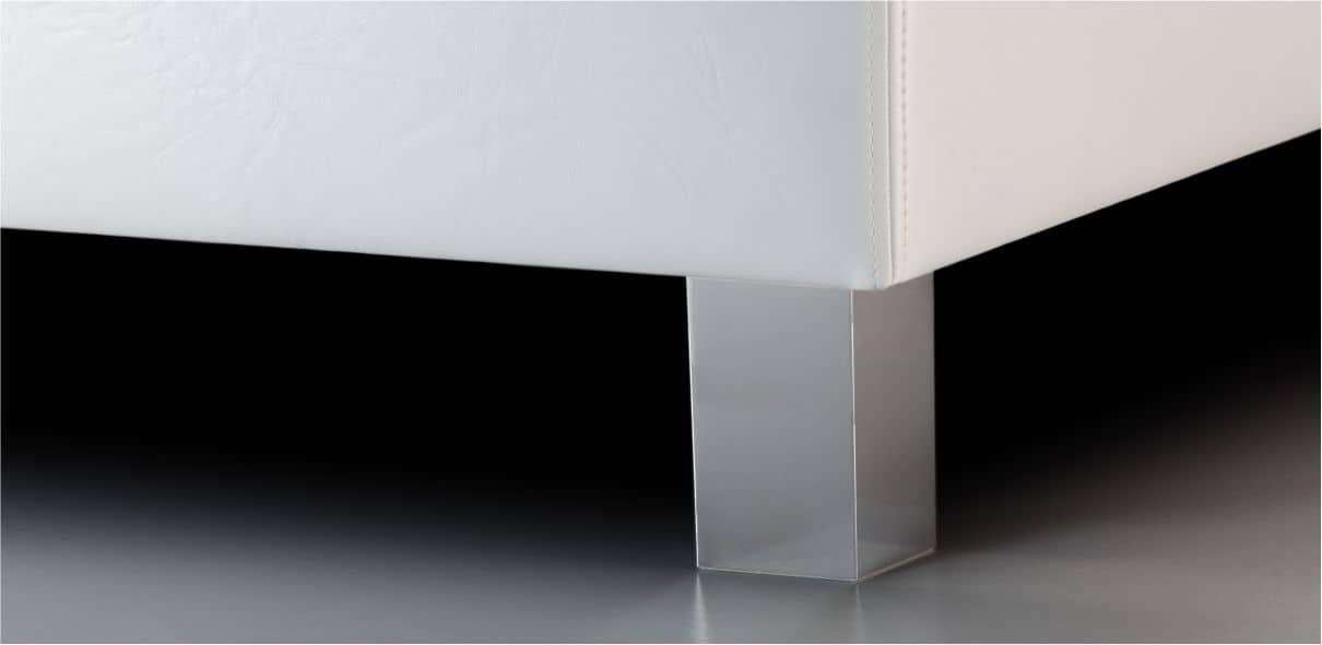 V18 - plastové nohy s broušeným hliníkovým povrchem; výška noh: 10 cm