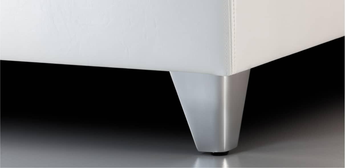V8 - matné kovové kónické nohy; výška noh: 10 cm