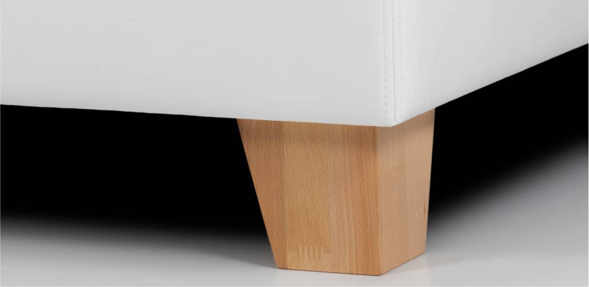 V9 - dřevěné bukové nohy s možností moření dle výběru; výška noh: 10 cm