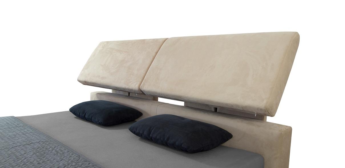 polohovací čelo postele je komfortní záležitost